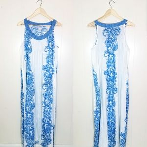 Soft Surroundings Floral Halter Maxi Dress